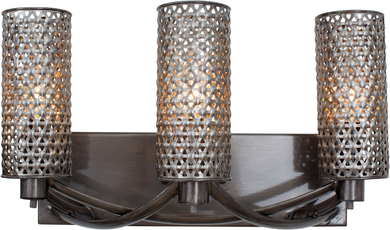 Varaluz 244B03 Casablanca 3 Light Hand Forged Recycled Steel Wall Sale $309.00 ITEM: bci2575747 ID#:244B03SL UPC: 811903021111 :