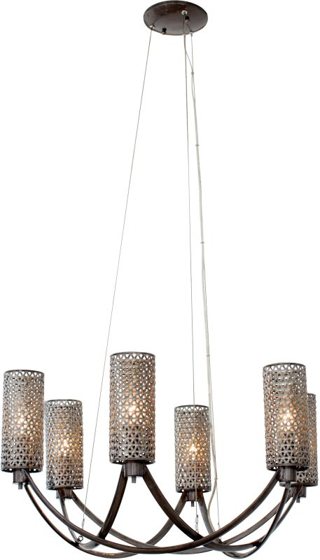 Varaluz 244C06 Casablanca 6 Light Hand Forged Recycled Steel