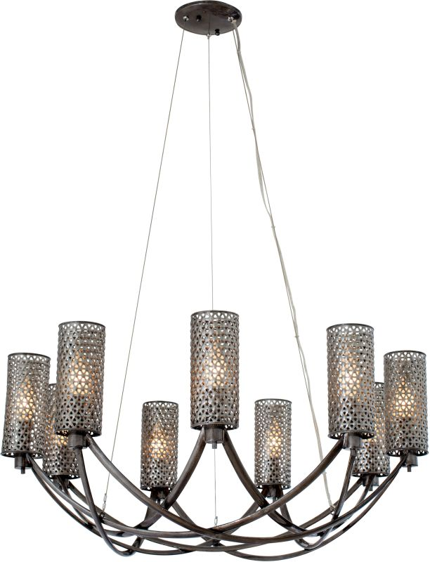Varaluz 244C09 Casablanca 9 Light Hand Forged Recycled Steel