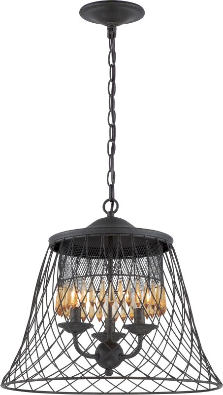 Varaluz 249P03 Madelyn 3 Light Pendant Forged Iron Indoor Lighting