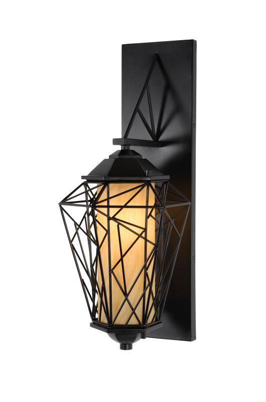 Varaluz 737KS01 Wright Stuff 1 Light Small Outdoor Wall Sconce Black