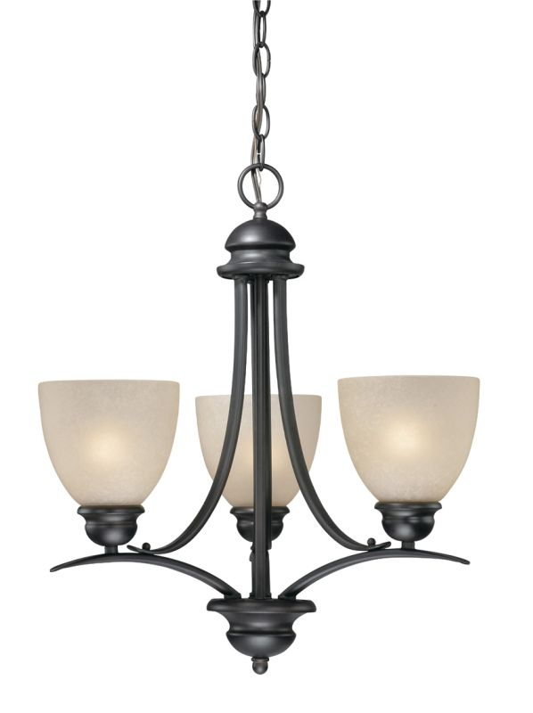 Vaxcel Lighting AL-CHU003 Avalon 3 Light Single Tier Chandelier with Sale $198.00 ITEM: bci916824 ID#:AL-CHU003OBB UPC: 884656600056 :