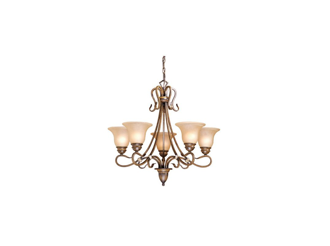 Vaxcel Lighting BE-CHU005 Berkeley 5 Light Single Tier Chandelier with Sale $300.00 ITEM: bci916901 ID#:BE-CHU005AW UPC: 884656600766 :