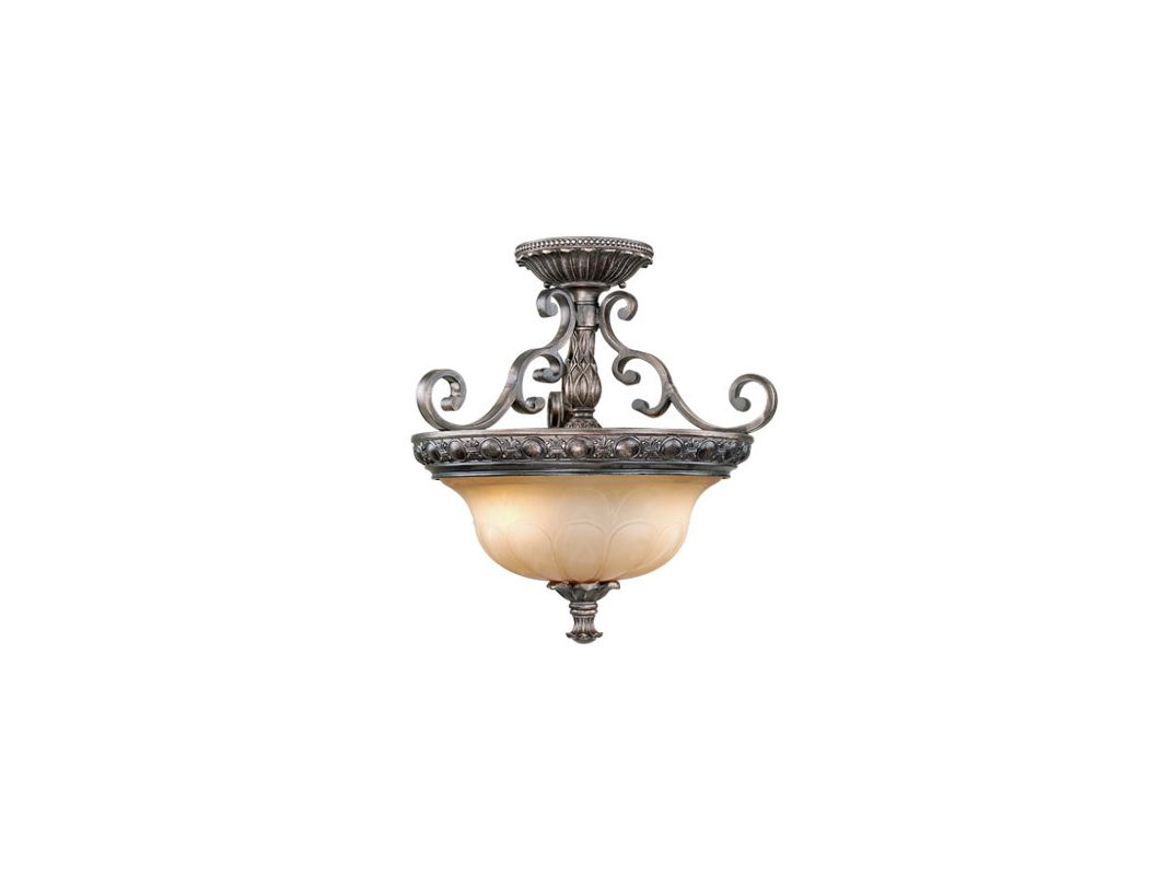 Vaxcel Lighting BG-CFU180 Bellagio 2 Light Semi-Flush Indoor Ceiling