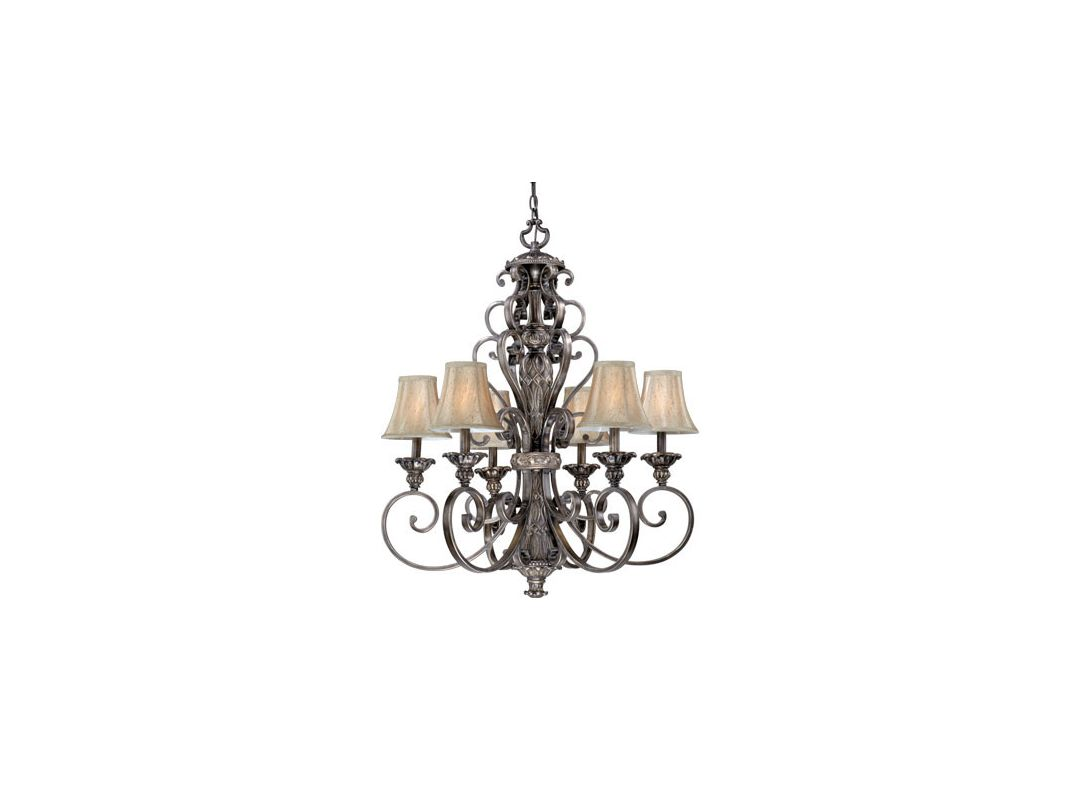 Vaxcel Lighting BG-CHS006 Bellagio 6 Light Single Tier Chandelier with