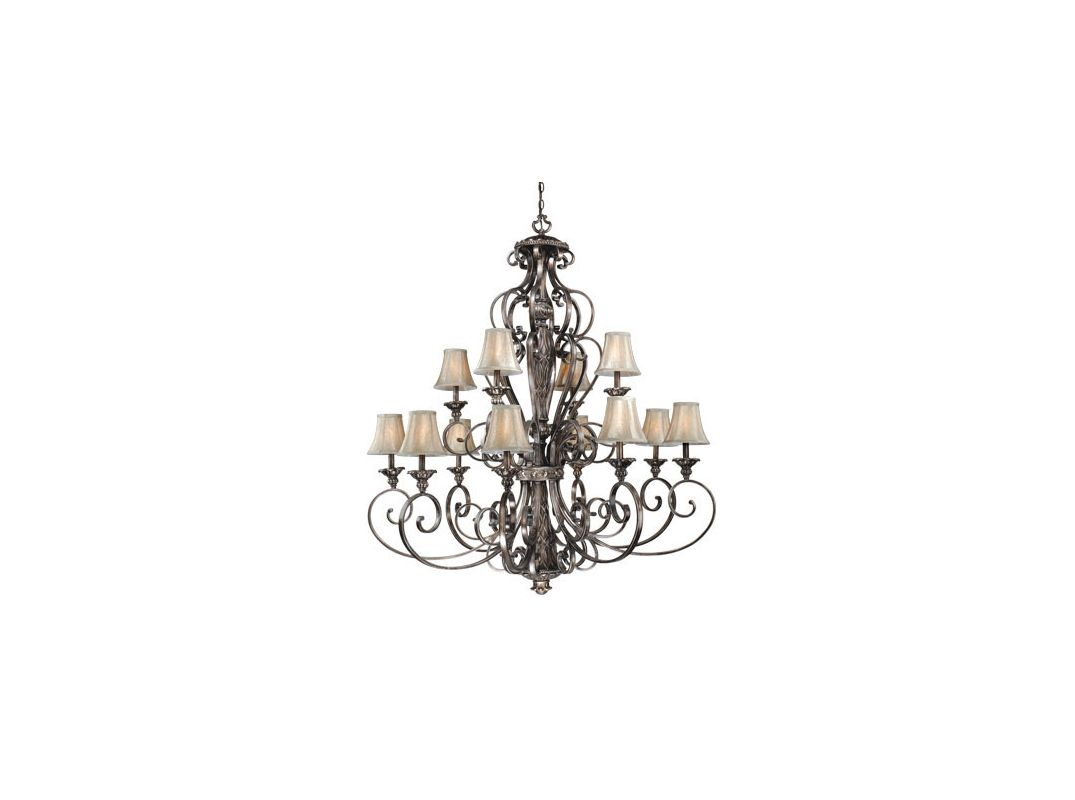 Vaxcel Lighting BG-CHS012 Bellagio 12 Light Two Tier Chandelier with