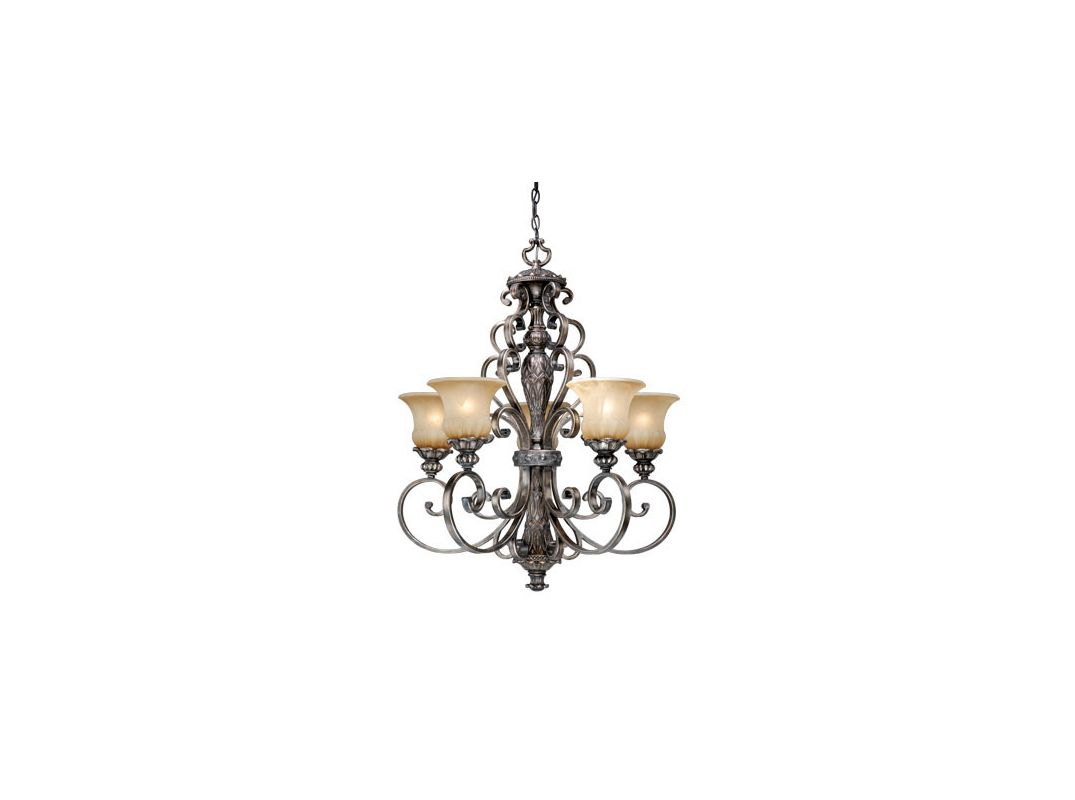 Vaxcel Lighting BG-CHU005 Bellagio 5 Light Single Tier Chandelier with