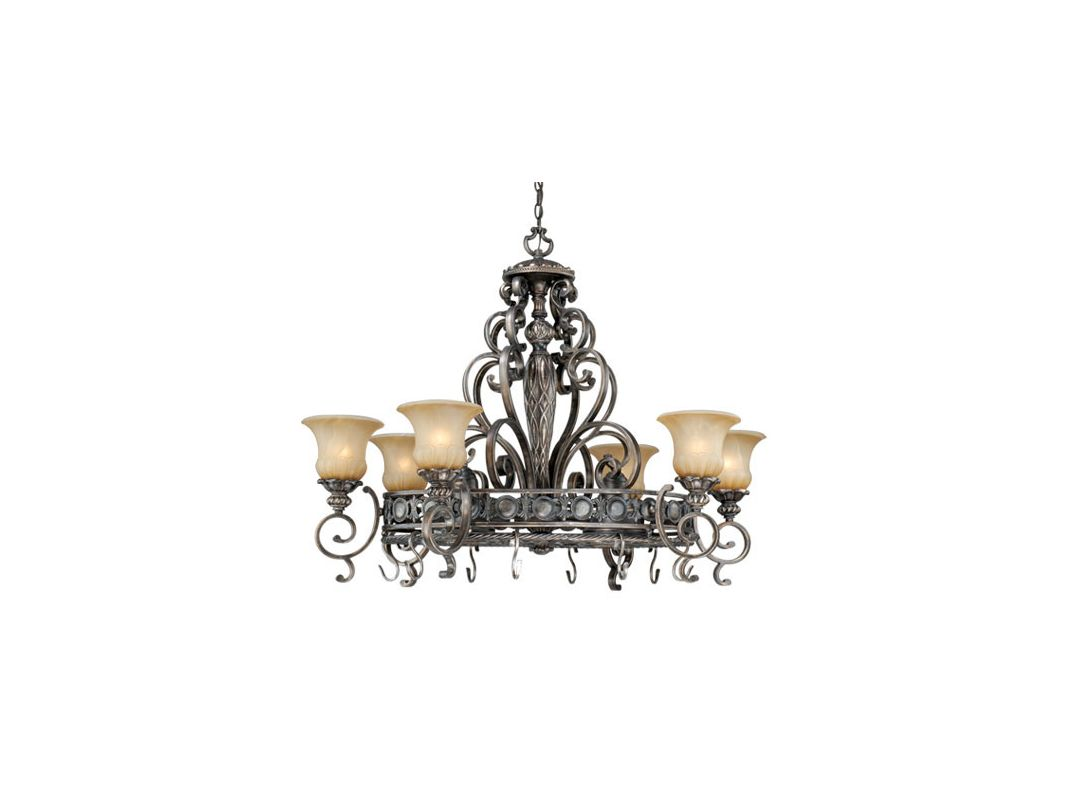 Vaxcel Lighting BG-PDB420 Bellagio 8 Light Pot Rack Parisian Bronze