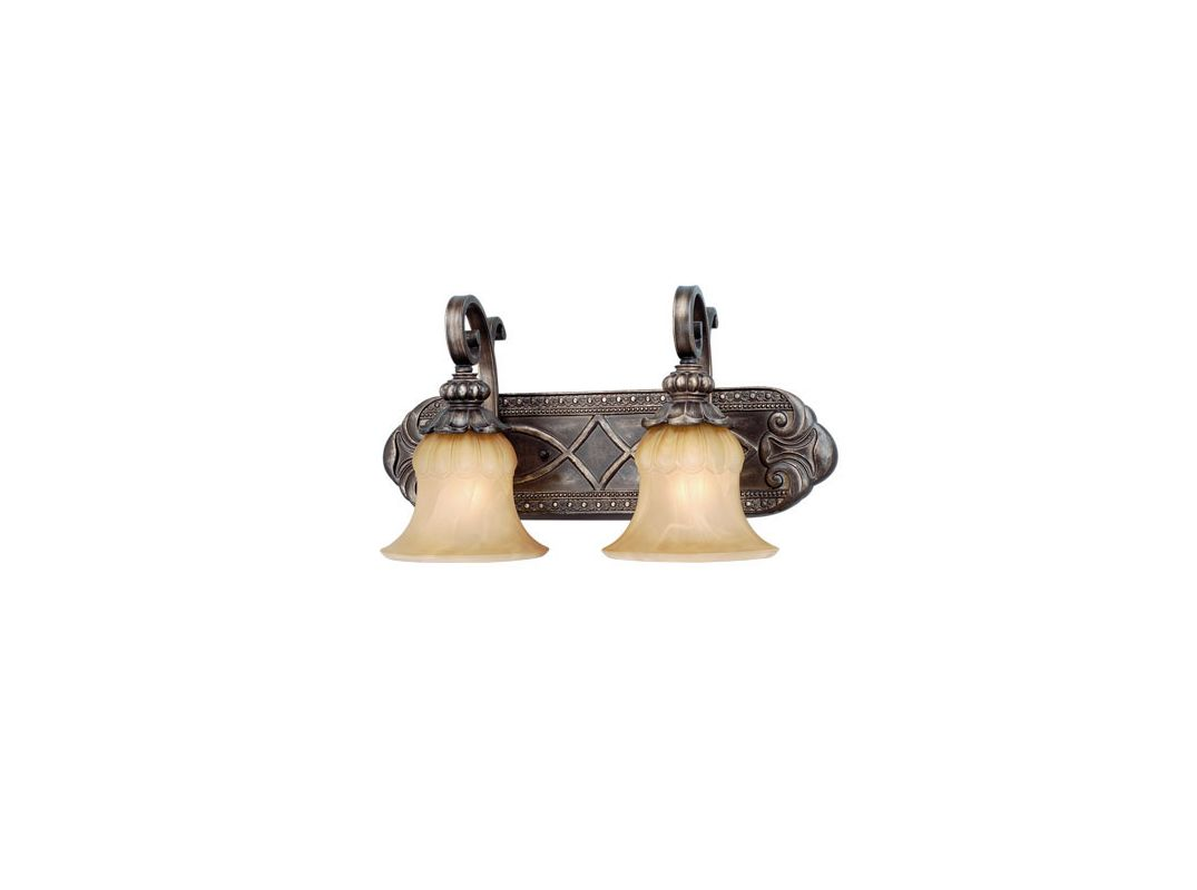 Vaxcel Lighting BG-VLD002 Bellagio 2 Light Bathroom Vanity Light - 11