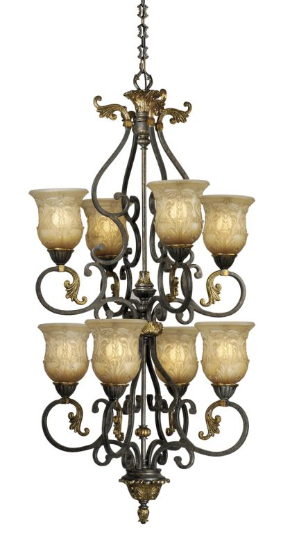 Vaxcel Lighting CA-CHU008 Caesar 8 Light Two Tier Chandelier - 25 Sale $299.24 ITEM: bci916960 ID#:CA-CHU008WA UPC: 884656601350 :