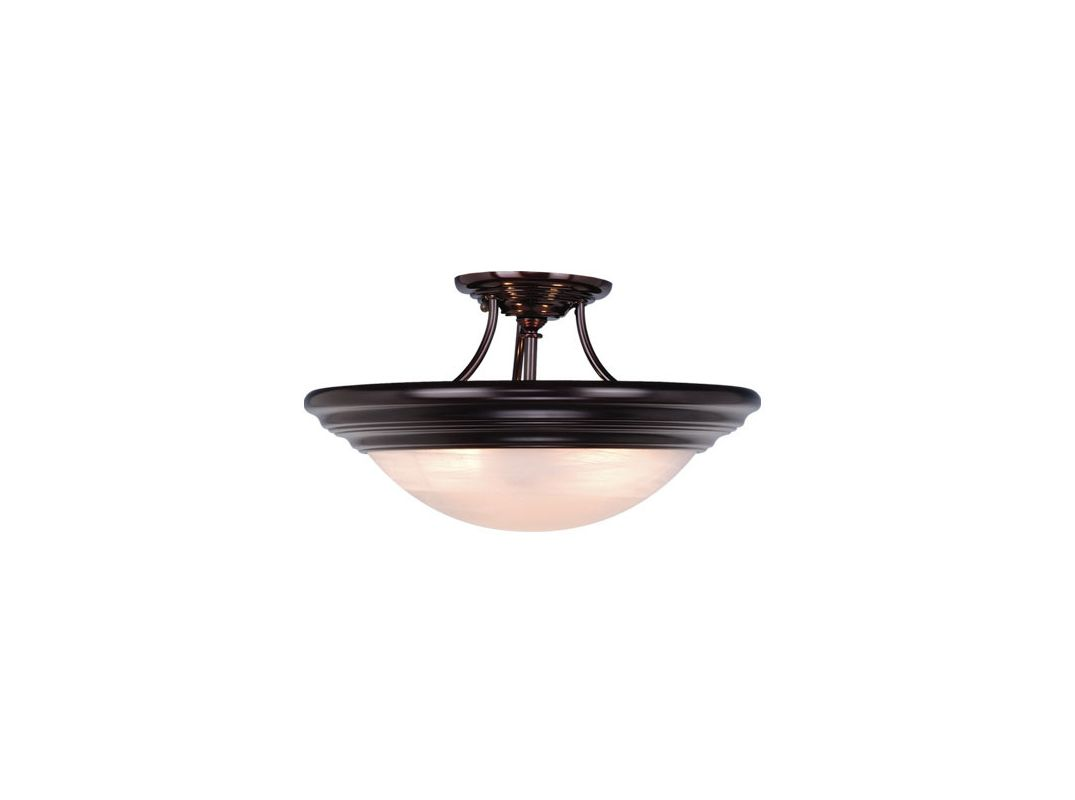 "Vaxcel Lighting CC32714 Tertial 2 Light Semi-Flush Indoor Ceiling Sale $126.00 ITEM: bci917062 ID#:CC32714OBB UPC: 884656602425 Product Features: Finish: Brushed Nickel , Light Direction: Down Lighting , Width: 14"" , Height: 9"" , Genre: Traditional , Bulb Type: Incandescent , Number of Bulbs: 2 , Fully covered under Vaxcel Lighting warranty , Location Rating: Indoor Use :"