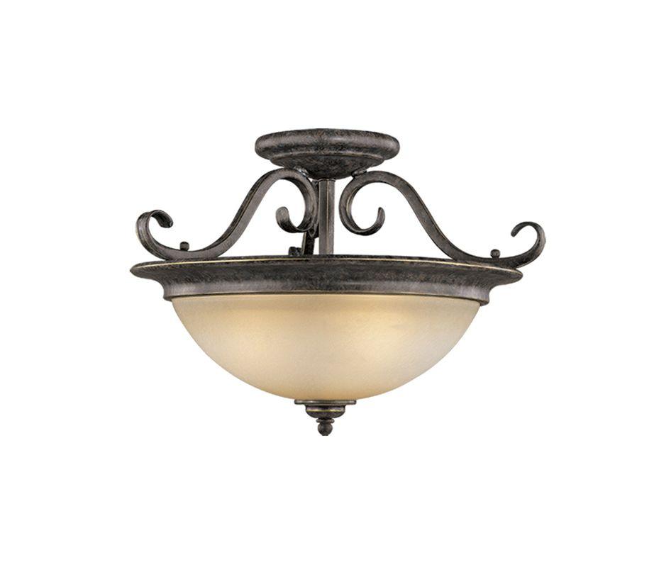 Vaxcel Lighting CF35918 Mont Blanc 3 Light Semi-Flush Indoor Ceiling Sale $192.00 ITEM: bci917135 ID#:CF35918AZ/B UPC: 884656603323 :