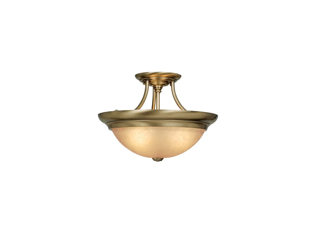 Vaxcel Lighting CF38215 3 Light Semi-Flush Indoor Ceiling Fixture with