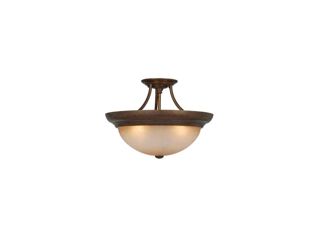 Vaxcel Lighting CF38217 3 Light Semi-Flush Indoor Ceiling Fixture with