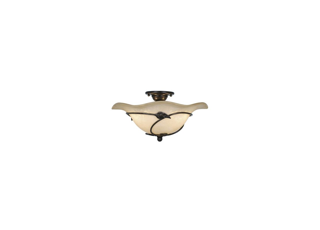 Vaxcel Lighting CF38815 Vine 2 Light Semi-Flush Indoor Ceiling Fixture Sale $153.00 ITEM: bci917142 ID#:CF38815OL UPC: 884656603392 :