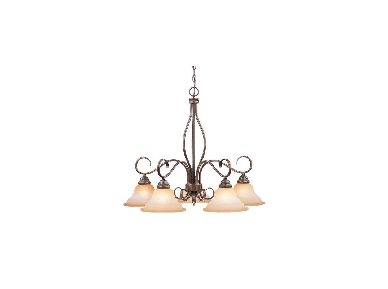 Progress Lighting Riverside Collection 4 Light Heirloom: Vaxcel Lighting CH35705RBZ/B Royal Bronze Five Light Down
