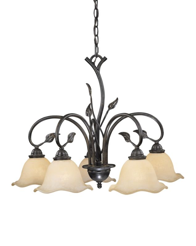 Vaxcel Lighting CH38805 Vine 5 Light Single Tier Chandelier with