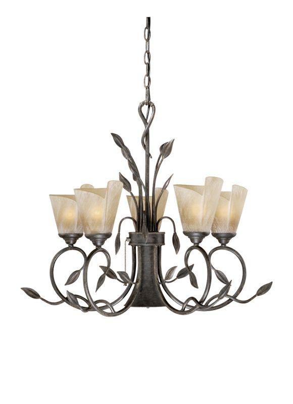 Vaxcel Lighting CP-CHB006 Capri 5 Light Single Tier Chandelier with Sale $530.00 ITEM: bci917311 ID#:CP-CHB006BW UPC: 884656605099 :