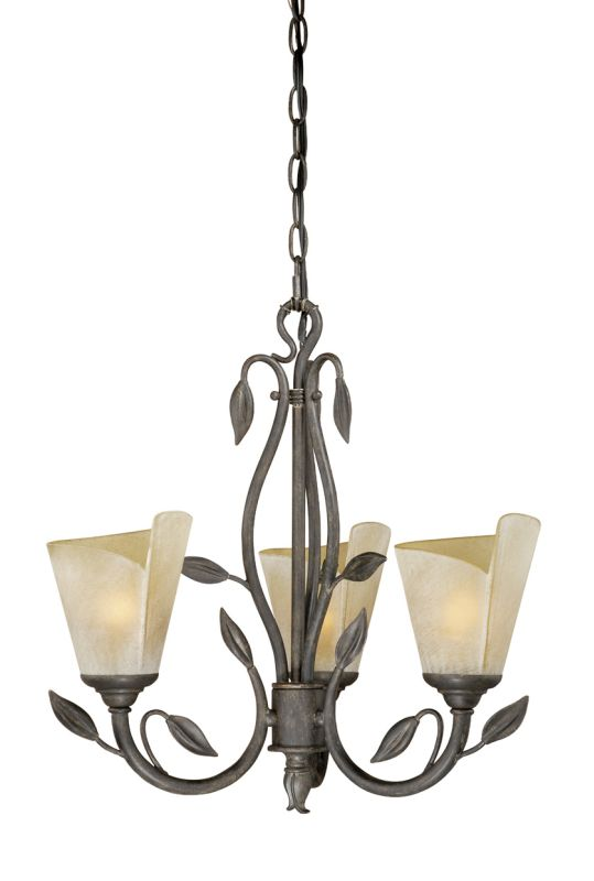 Vaxcel Lighting CP-CHU003 Capri 3 Light Single Tier Chandelier with