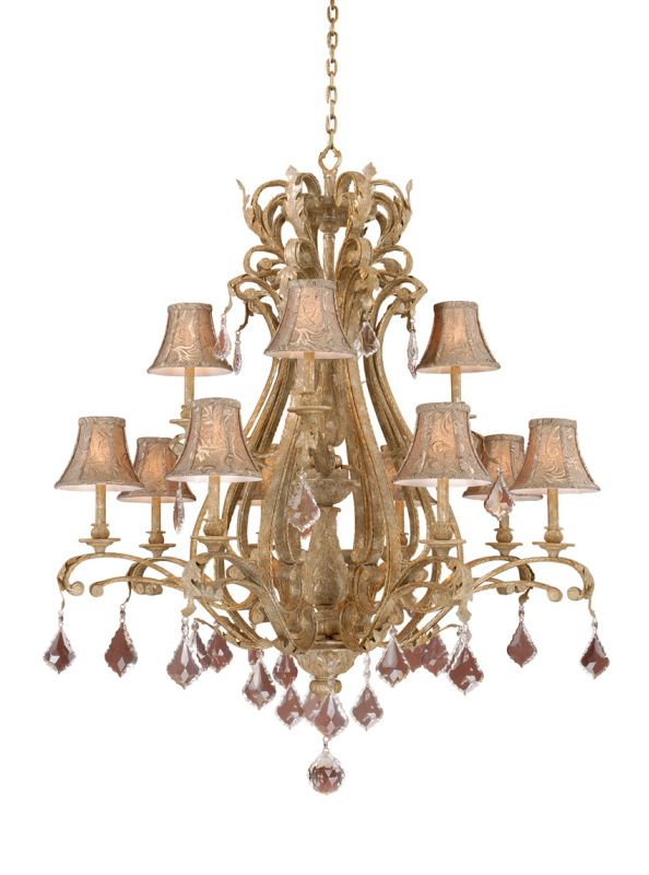 Vaxcel Lighting EP-CHS012 Empire 12 Light Two Tier Chandelier - 43 Sale $3200.00 ITEM: bci917368 ID#:EP-CHS012PP UPC: 884656605549 :