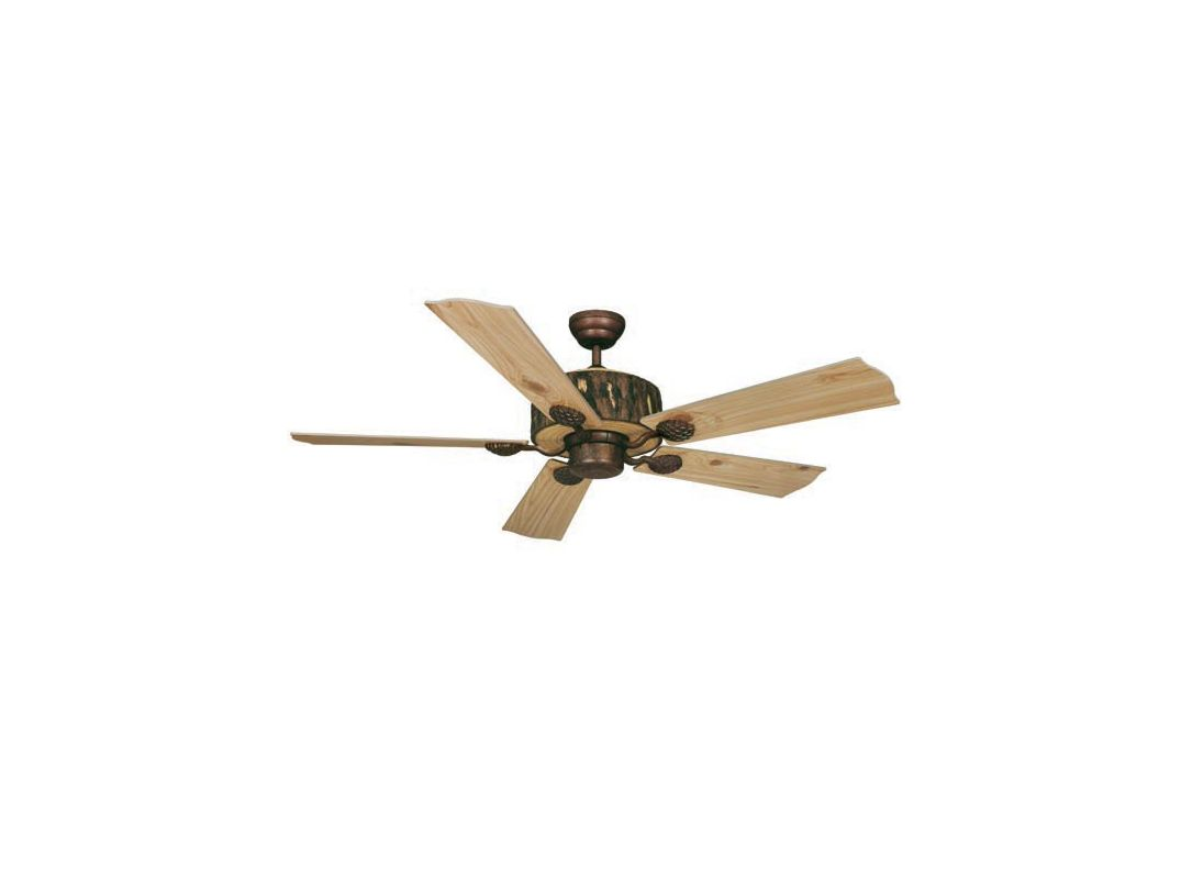 "Vaxcel Lighting FN52265 Log Cabin 52"" 5 Blade Indoor Ceiling Fan -"