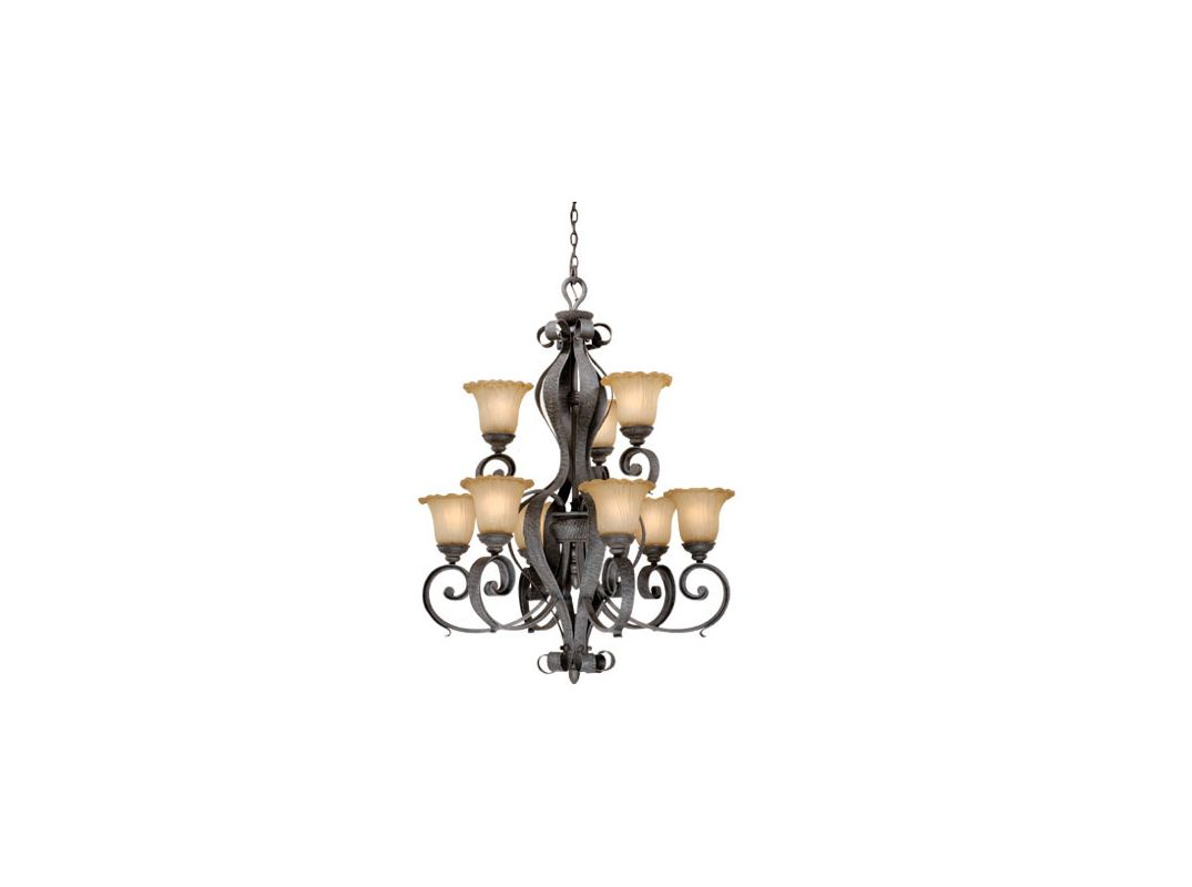 Vaxcel Lighting HB-CHU009 Hapsburg 9 Light Two Tier Chandelier - 32 Sale $760.82 ITEM: bci917492 ID#:HB-CHU009OI UPC: 884656606010 :