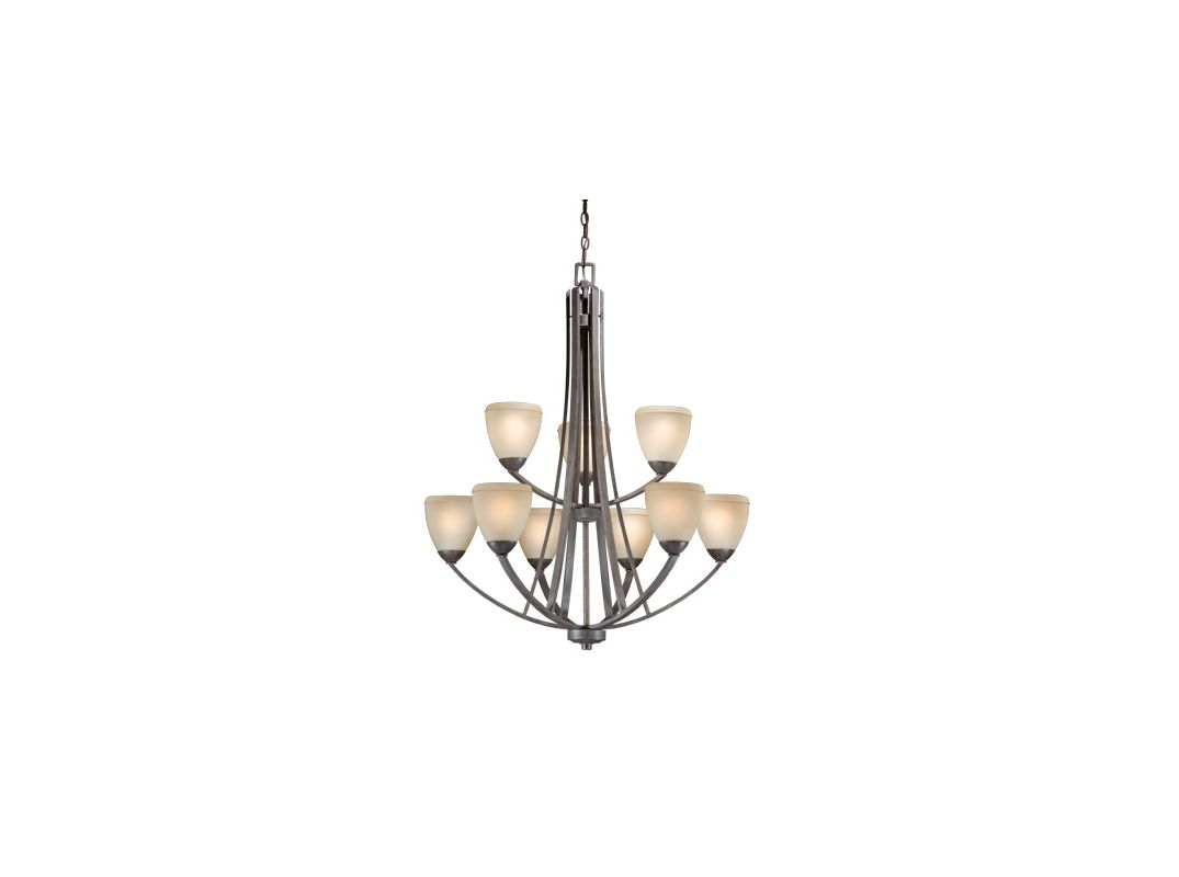 Vaxcel Lighting HS-CHU009 Helsinki 9 Light Two Tier Chandelier with