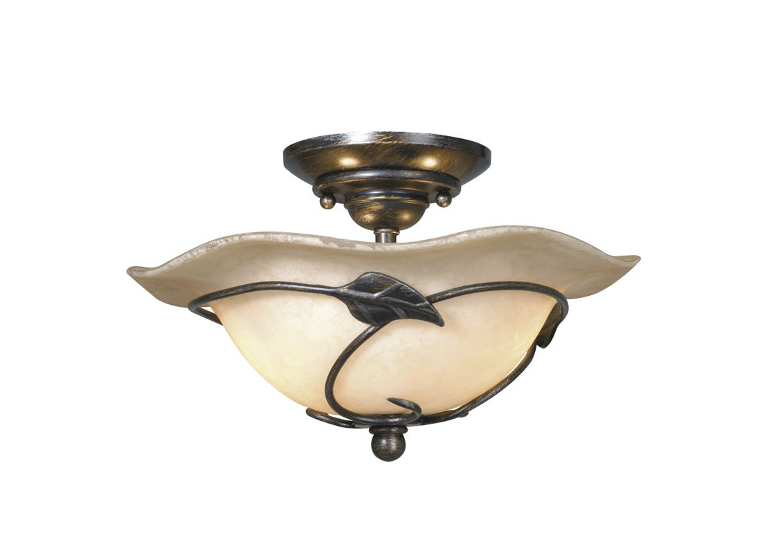 Shop Cascadia Lighting 4 Light Standford Brushed Nickel: Vaxcel Lighting LK38812OL Oil Shale Two Light Down