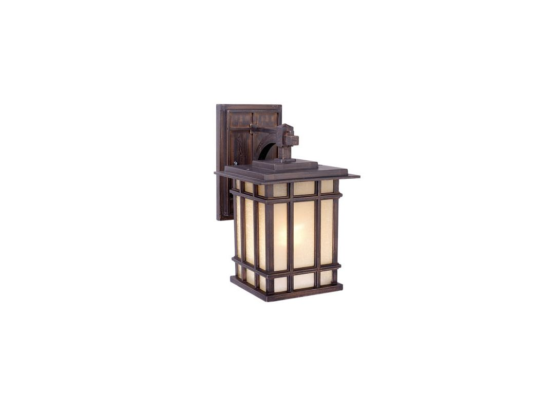 Vaxcel Lighting MH OWD070CZ Architectural Bronze Manor House 1 Light Outdoor