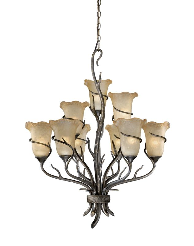 Vaxcel Lighting MY-CHU009 Monterey 9 Light Two Tier Chandelier with