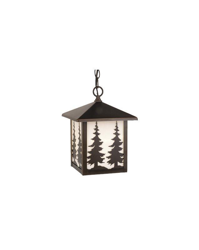 Vaxcel Lighting OD33486 Yosemite 1 Light Square Tree Outdoor Pendant