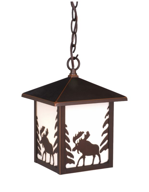 Vaxcel Lighting OD36986 Yellowstone 1 Light Square Moose Outdoor