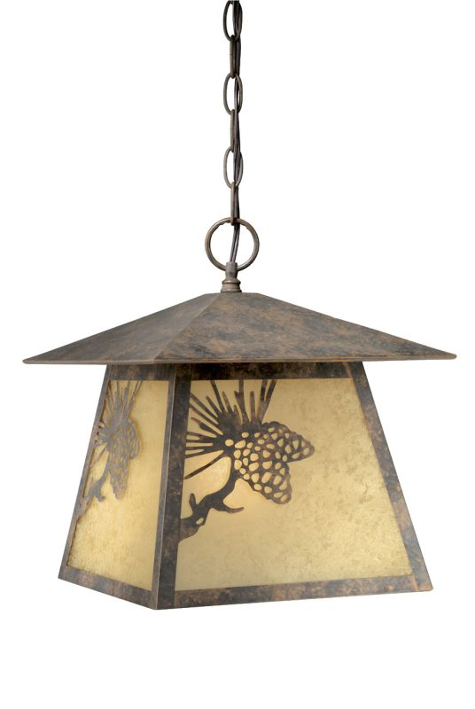 Vaxcel Lighting OD50546 Whitebark 1 Light Square Outdoor Pendant Olde