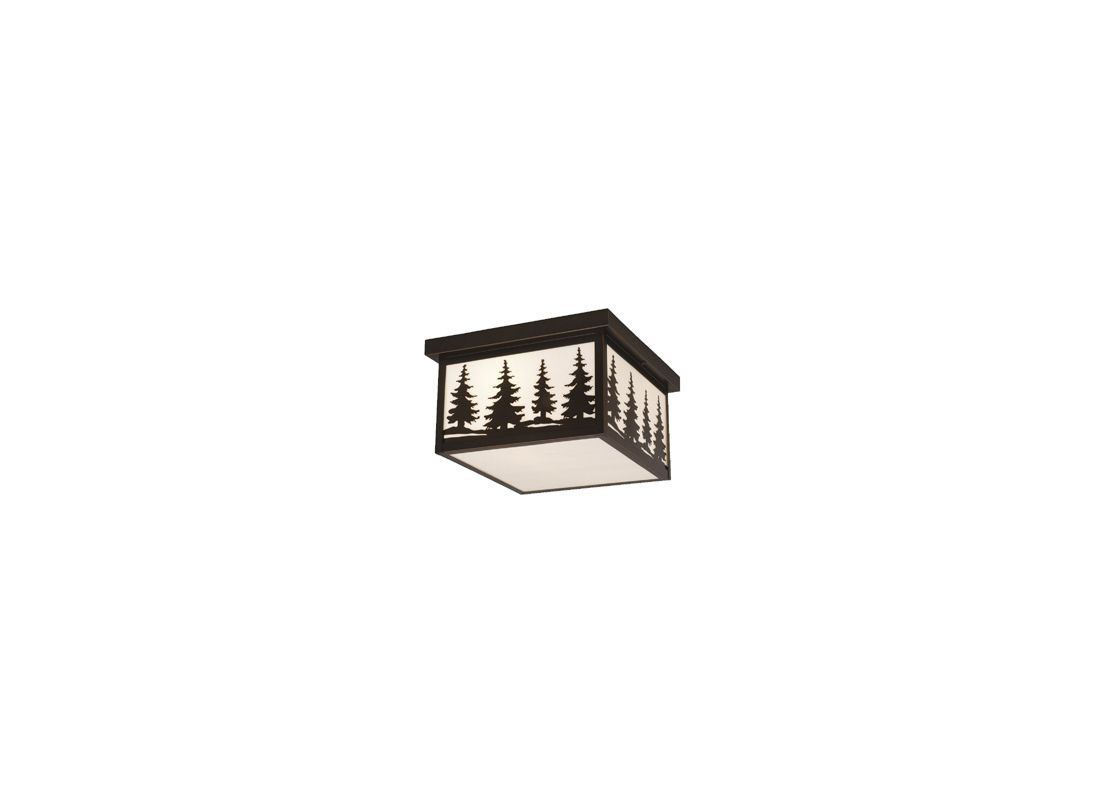 Vaxcel Lighting OF33412 Yosemite 2 Light Flush Mount Outdoor Ceiling