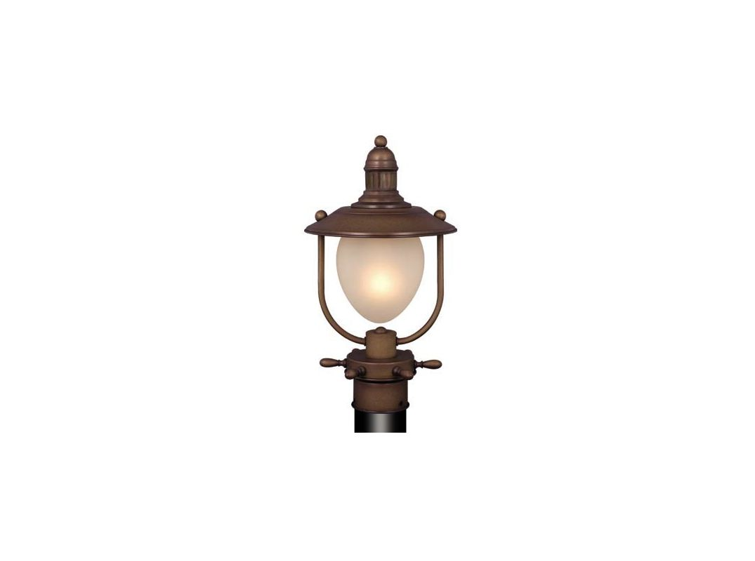 Lighting op25595rc antique red copper orleans 1 light outdoor post