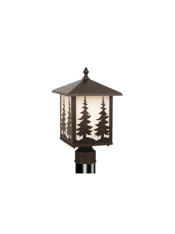 Vaxcel Lighting OP33485 Yosemite 1 Light Outdoor Post Light Burnished