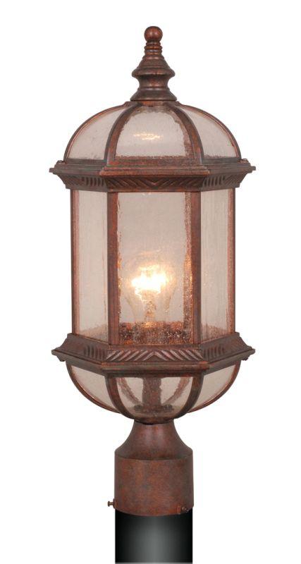 Vaxcel Lighting OP39785 Chateau 1 Light Outdoor Post Light Royal Sale $66.00 ITEM: bci917851 ID#:OP39785RBZ UPC: 884656641288 :