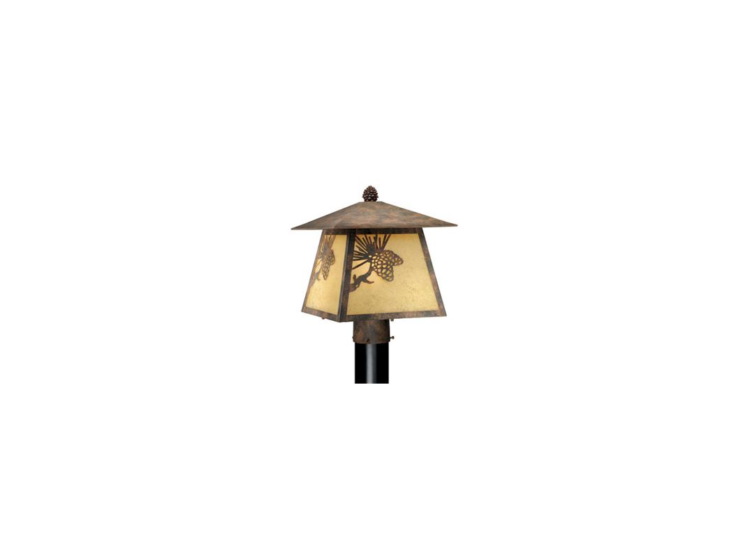 Vaxcel Lighting OP50585 Whitebark 1 Light Outdoor Post Light Olde Sale $182.00 ITEM: bci917853 ID#:OP50585OA UPC: 884656641301 :