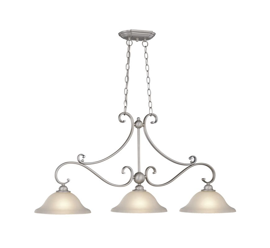 Vaxcel Lighting PD35413 Monrovia 3 Light 1 Tier Linear Chandelier Sale $264.00 ITEM: bci918032 ID#:PD35413BN UPC: 884656608243 :