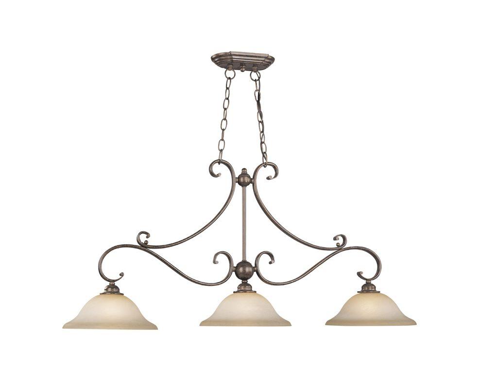 Vaxcel Lighting PD35413 Monrovia 3 Light 1 Tier Linear Chandelier Sale $258.00 ITEM: bci918033 ID#:PD35413RBZ/B UPC: 884656608250 :
