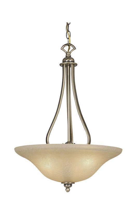 Vaxcel Lighting PD35418 Monrovia 3 Light Bowl Pendant Antique Brass