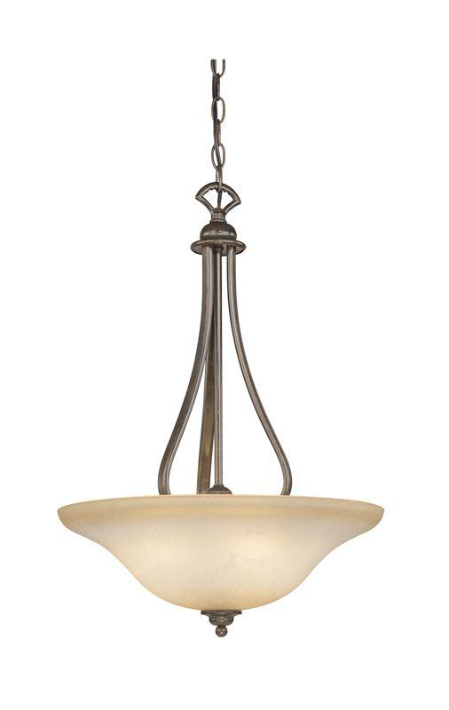 Vaxcel Lighting PD35418 Monrovia 3 Light Bowl Pendant Royal Bronze