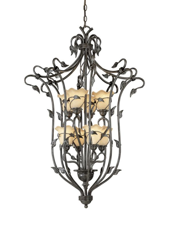 Vaxcel Lighting PD38808 Vine 8 Light Foyer Pendant Oil Shale Indoor