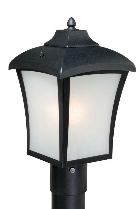 Vaxcel Lighting T0003 Boardwalk 1 Light Outdoor Post Light Oil Rubbed