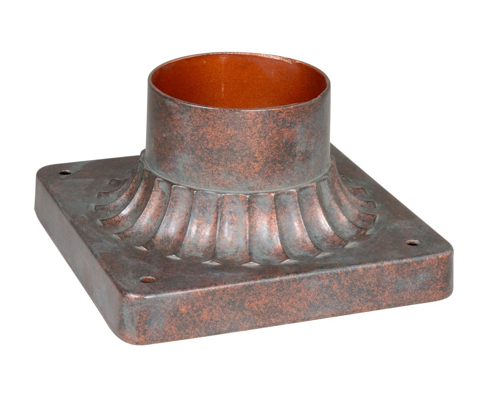Vaxcel Lighting T0038 Pier Mount Adapter in a Royal Bronze Finish from