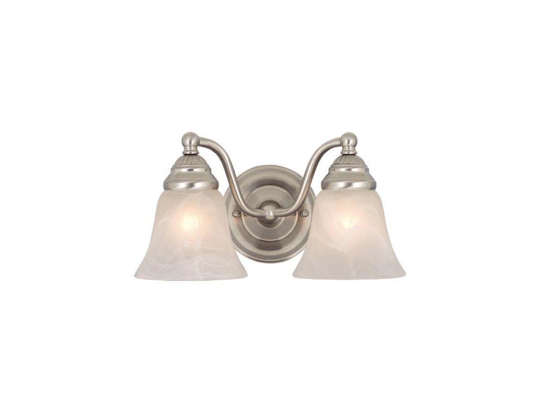 Shop Cascadia Lighting 4 Light Standford Brushed Nickel: Vaxcel Lighting VL35122BN Brushed Nickel Standford 2 Light