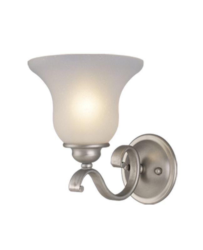 Vaxcel Lighting VL35401 Monrovia 1 Light Bathroom Sconce - 8 Inches Sale $42.28 ITEM: bci918246 ID#:VL35401BN UPC: 884656610307 :