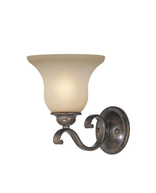 Vaxcel Lighting VL35401 Monrovia 1 Light Bathroom Sconce - 8 Inches Sale $23.40 ITEM: bci918247 ID#:VL35401RBZ/B UPC: 884656610314 :