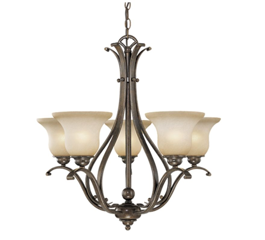 Vaxcel Lighting CH35405 Monrovia 5 Light Single Tier Chandelier with
