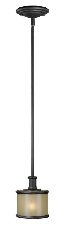 Vaxcel Lighting CR-PDD060 Carlisle 1 Light Mini Pendant Noble Bronze